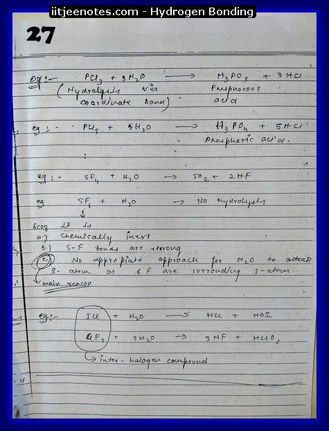 Hydrogen Bonding Notes13