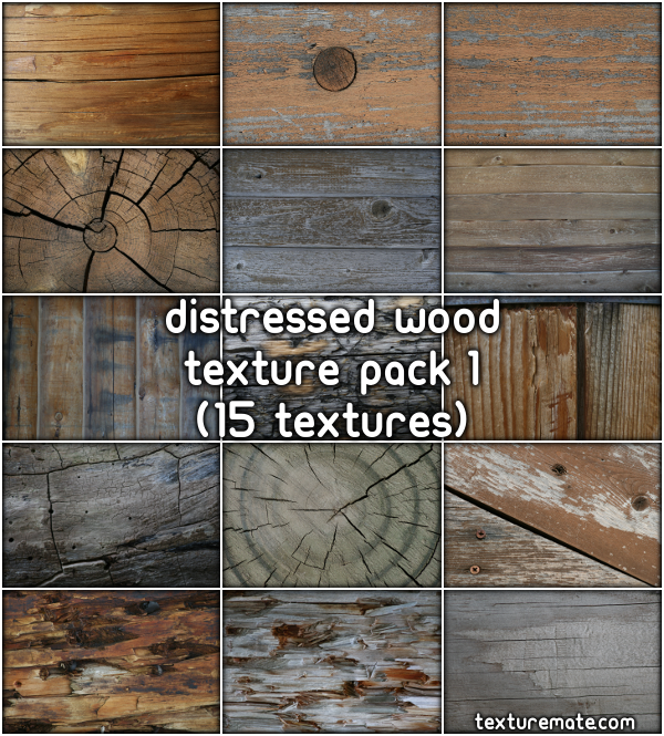 Free Texture Pack for Commercial Use - Distressed Wood 1