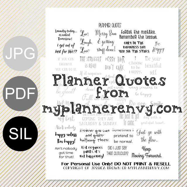 Free Printable Planner Quotes from myplannerenvy.com