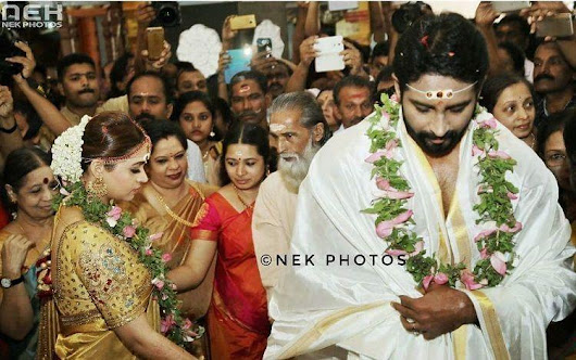 Actress Bhavana weds producer Naveen in Thrissur