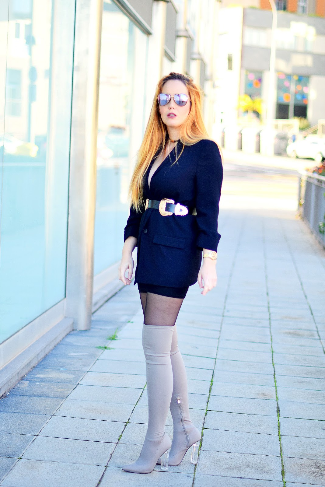 nery hdez, kardashian style, b-low de belt clone, opticalh, over the knee boots, carolina boix
