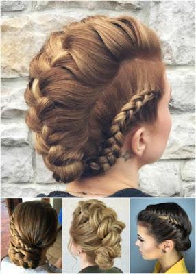 peinados recogidos con rulos