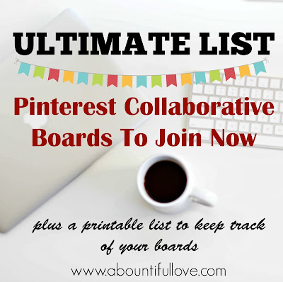 Ultimate List of Collaborative Pinterest Boards