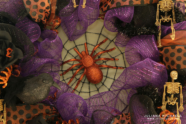 Dollar Tree Halloween Deco Mesh Wreath by Juliana Michaels
