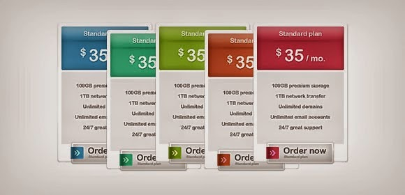 Pricing Box Free PSD