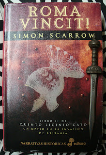 Portada del libro Roma Vincit!, de Simon Scarrow