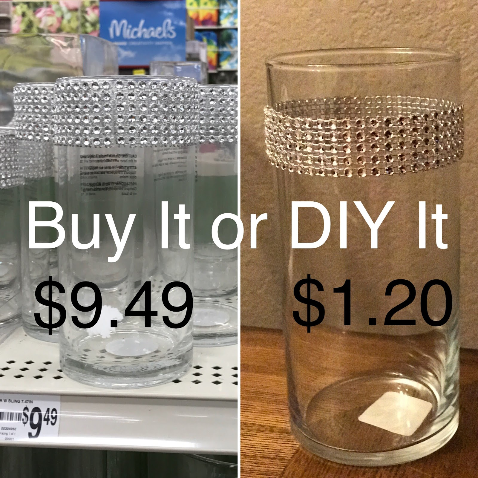 Beauty and the stamper jean piersanti independent stampin up of course i love the dollar tree and knew they had just what i needed and for only 200 with a glass cylinder vase and some diamond wrap bling reviewsmspy