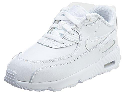 fa49a02423 NIKE Boy's Air Max 90 Leather (TD) Shoes, White/White 10C 2019 ...