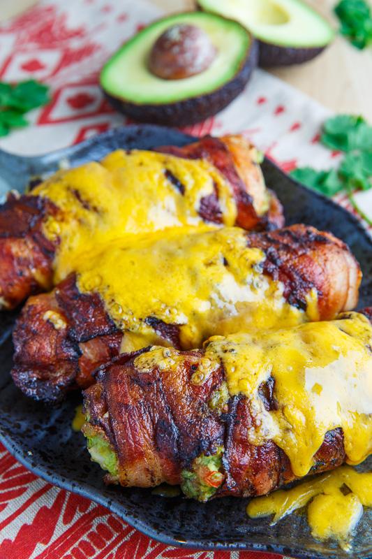 #Recipe : Bacon Wrapped Guacamole Stuffed Chicken