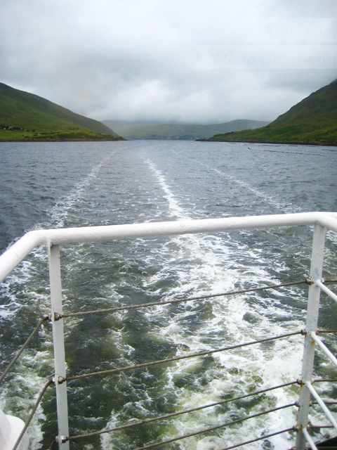 View from The Connemara Lady cruise boat, Killary Fjord, Ireland