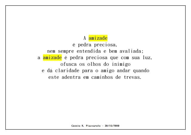 poesia amizade preciosa