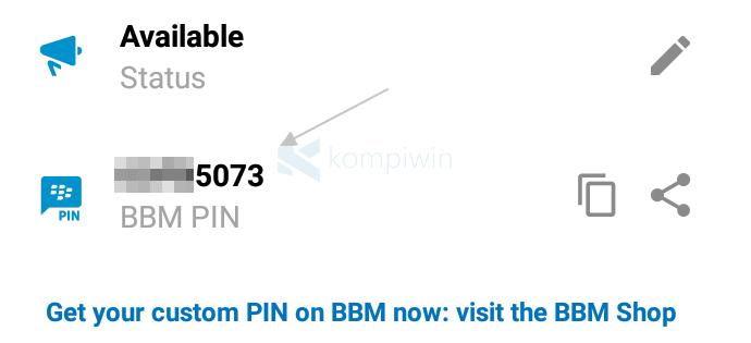 cara melihat pin bbm