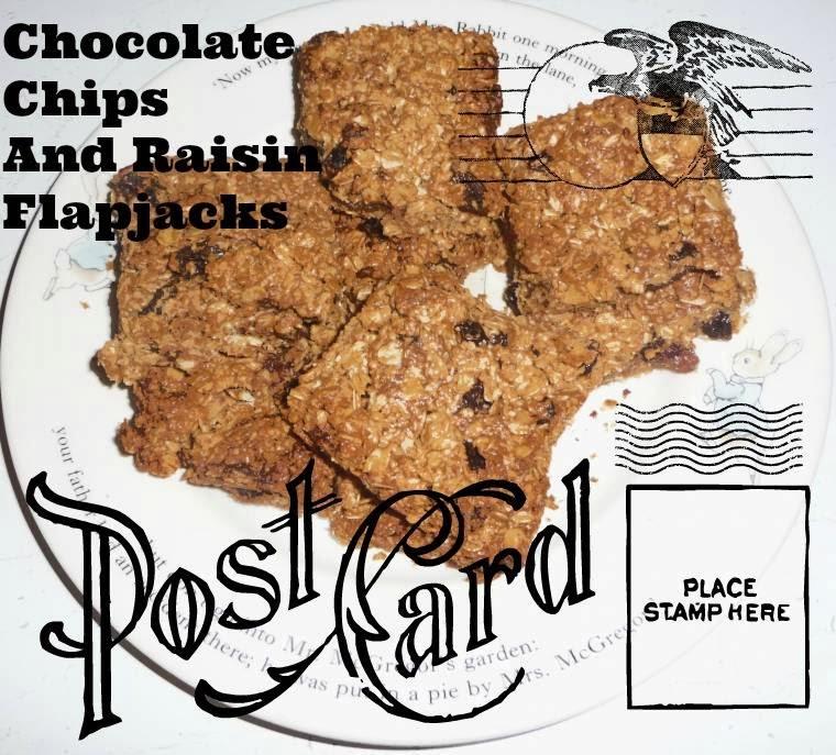 Chocolate Chips And Raisin Flapjacks