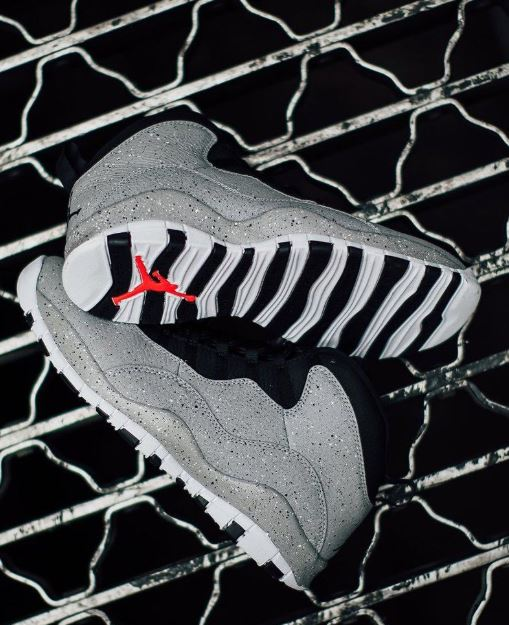 ff745698c74 Here is a detailed Look at the Air Jordan 10 Cement Retro Sneaker Available  at 10 am HERE at Villa