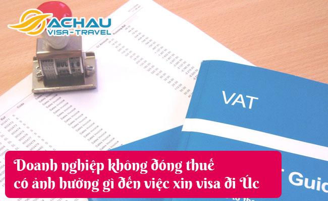 doanh nghiep khong dong thue co anh huong gi den viec xin visa di uc