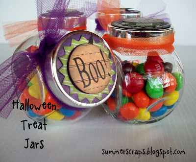 Boo Treat Jars from www.summerscraps.com