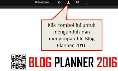 Cara mengunduh blog planner 2016