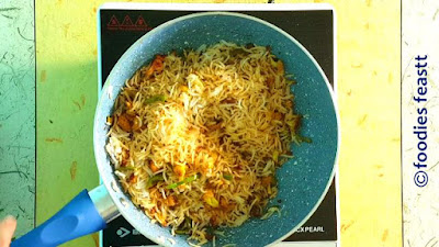 Veg Stir Fry Pulao / Stir Fry Pilaf / How To Make Veg Stir Fry Pulao