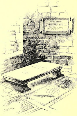 Sir Christopher Wren's tomb from Memorials of St Paul's Cathedral by WM Sinclair (1909)