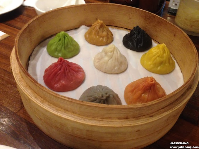 Food in Taipei,Breeze Xinyi,Paradise Dynasty-colorful eight-color Xiao Long Bao,the world's first