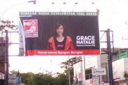 Belum Kantongi Izin, Iklan Grace Natalie PSI Diturunkan Satpol PP