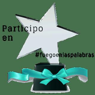 Trofeo de participante en #fuegoenlaspalabras
