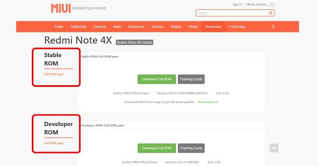 Perbedaan ROM Stable dan ROM Developer Xiaomi