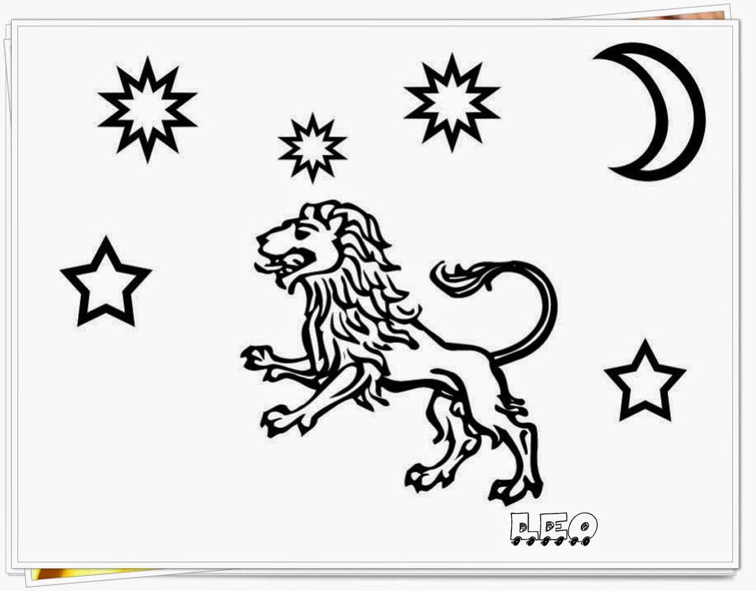 leo printable zodiac coloring pages