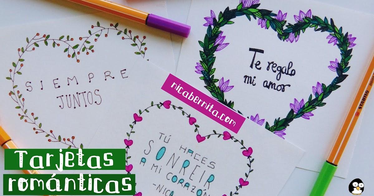 Tarjetas De San Valentin Hechas A Mano Tarjetas Con Mensajes