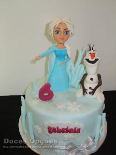 A Elsa e o Olaf no 6º aniversário da Gabriela