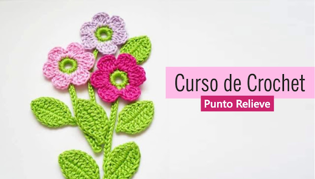 Curso de Crochet: Punto Vareta con Relieve por Detrás