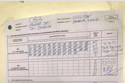 Hasil Pilpres 2019 Jokowi Unggul di Sejumlah TPS dan Quick Count