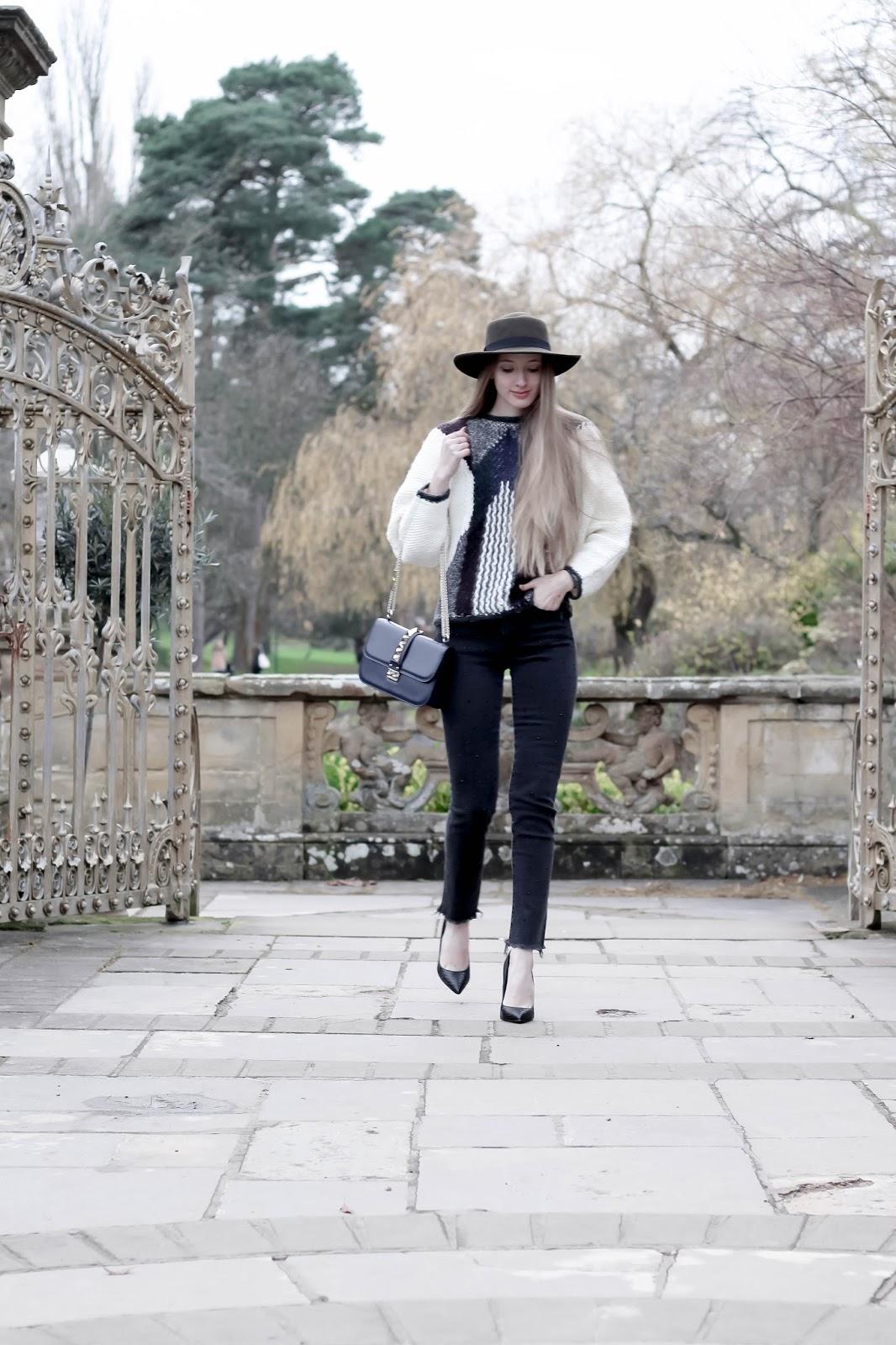 Extra chunky knit winter jumper fashion blog styling