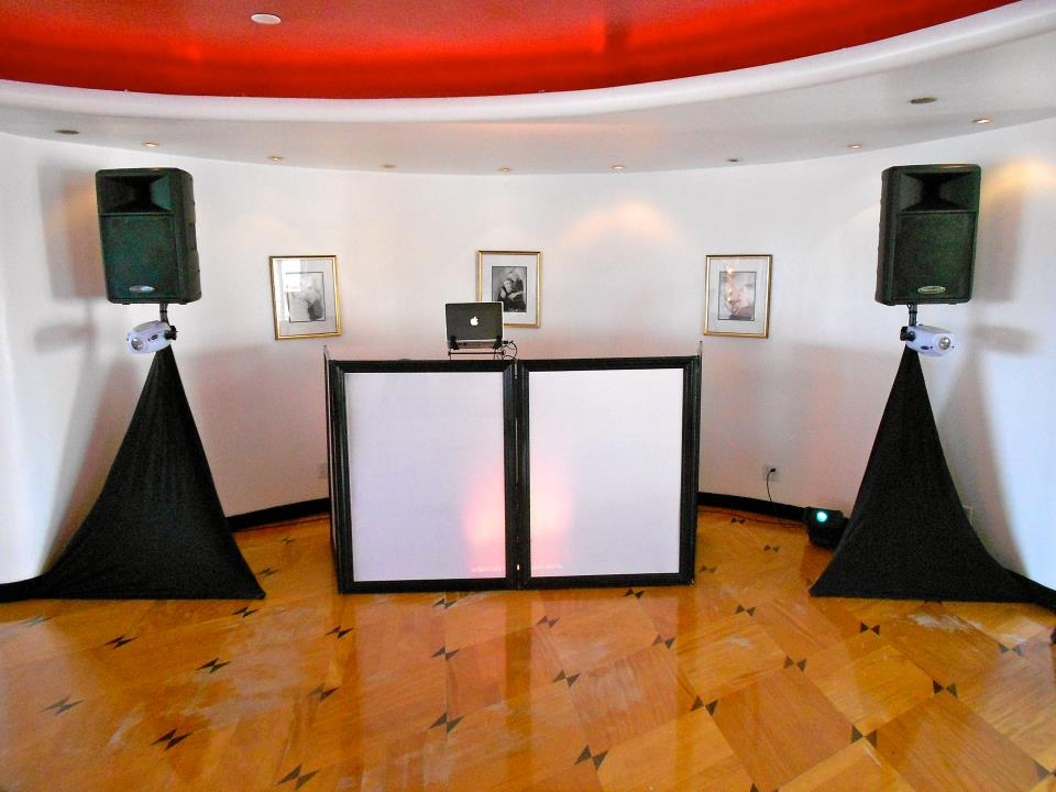 Aftershock Ent Wedding Set Up At The Sky Room Long Beach Ca