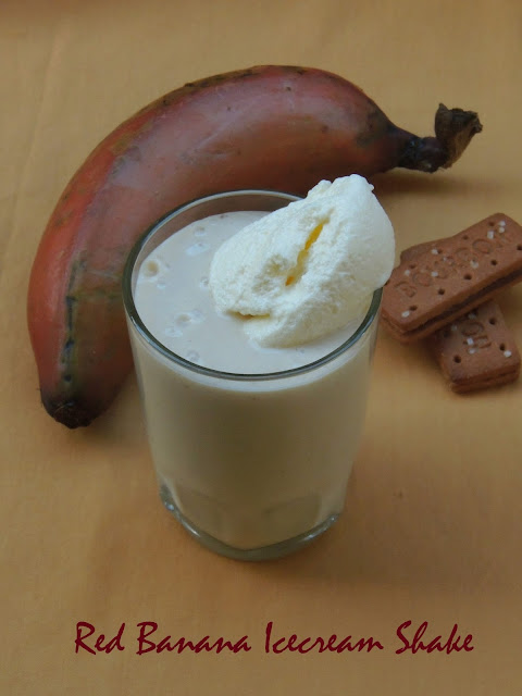 Icecream Banana Shake, Red Banana Shake