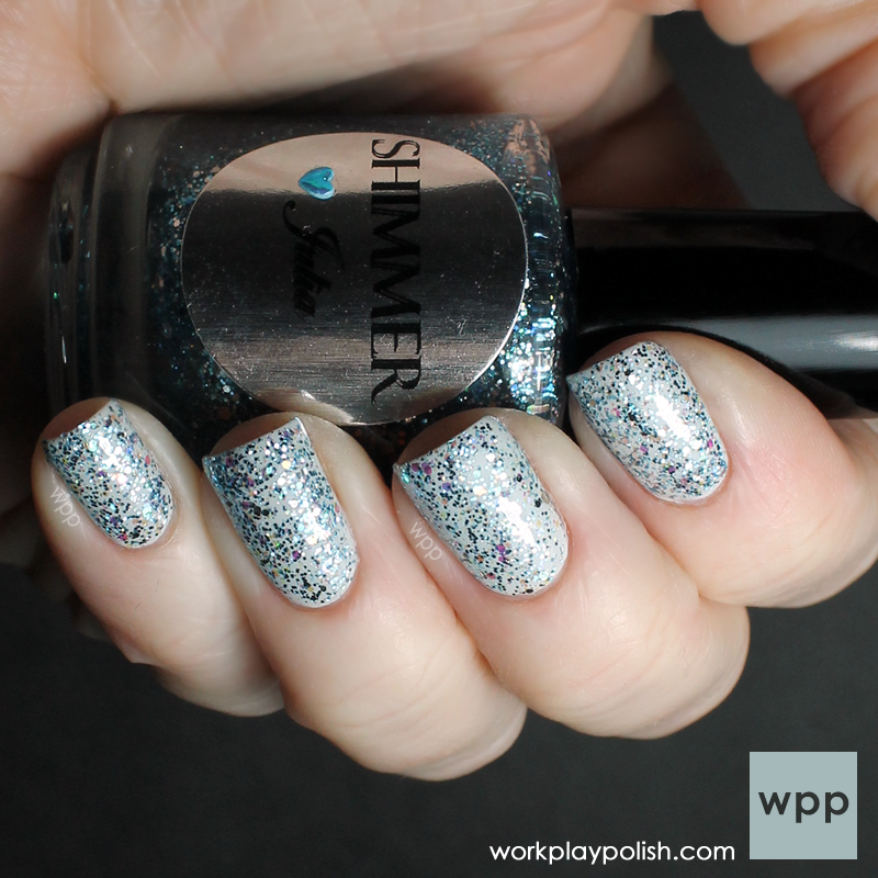 Shimmer Polish Julia over OPI My Boyriend Scales Walls (work / play / polish)