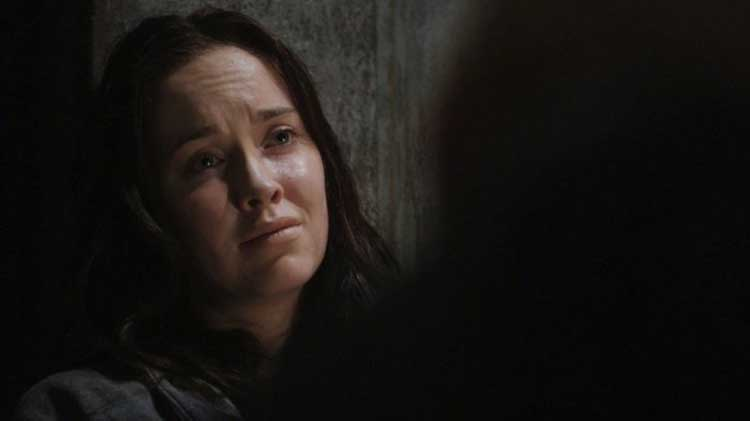 "Chloe in the Stargate Universe episode ""Incursion"""