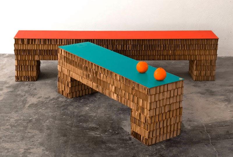 Bancos de cartón corrugado Streep A4A Design