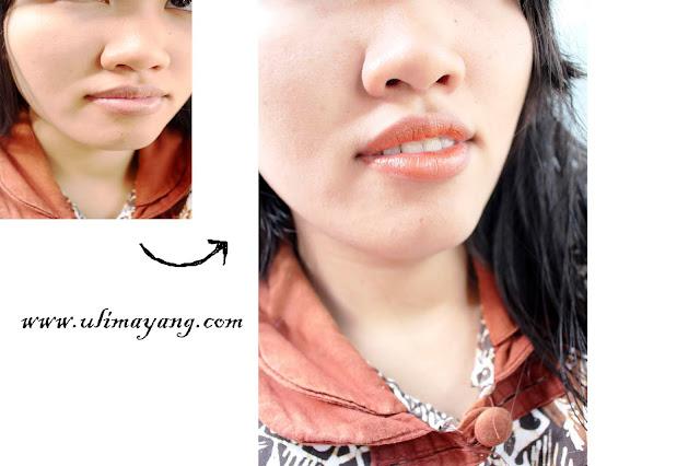 swatch-lipstick-lokal-ultra-glossy-no-06-ratu-ayu-pt-rama-mulia-cosmetic