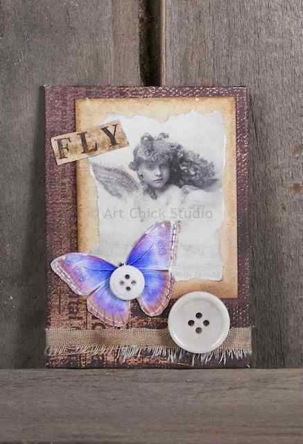 Fly Altered Art ATC