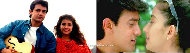pasangan selebriti bollywood favorit Aamir Khan & Manisha Koirala