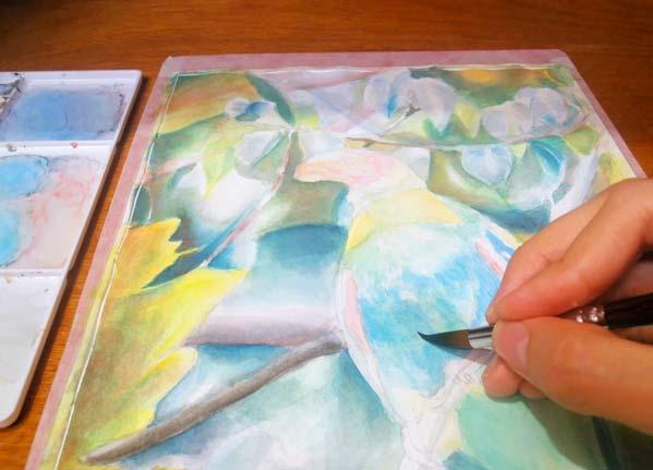 Pintura acuarela loro calvo paso a paso