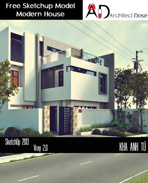 Free Sketchup Model - Modern House