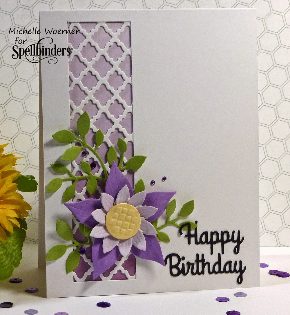Stop And Stamp The Roses: Crafty Flower Birthday Card And