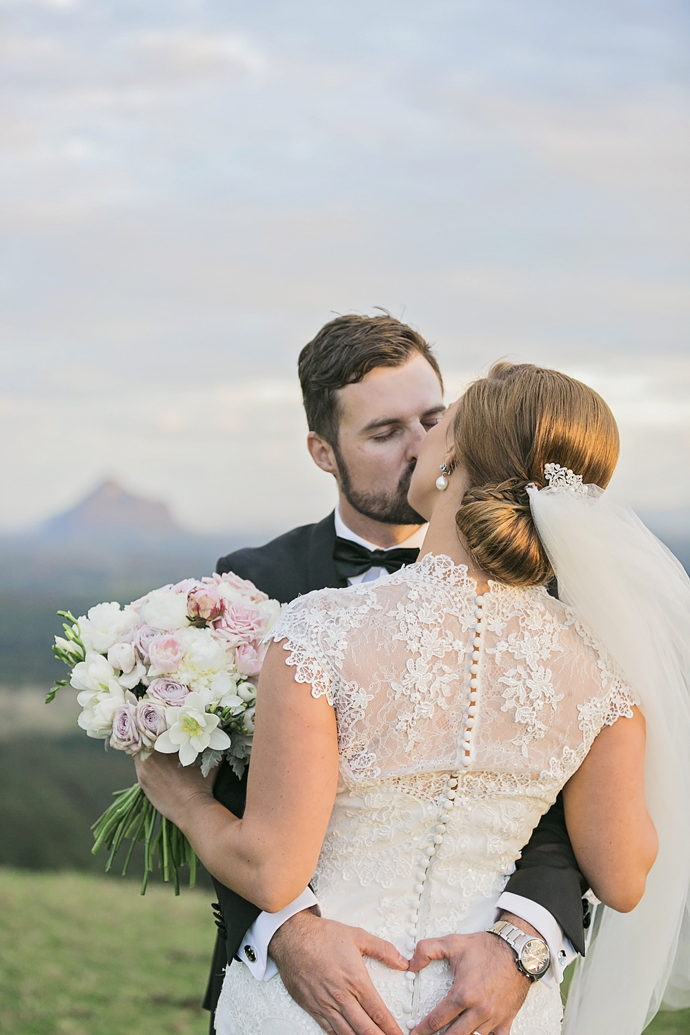 Dreamy Pink and Gold Outdoor Real Wedding