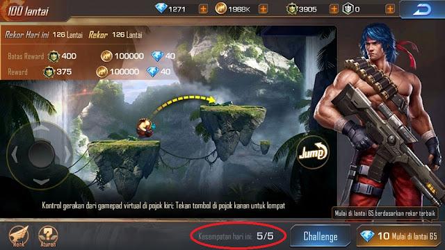 Trik Bermain Mini Game 100 Lantai Berkali Kali Contra Return