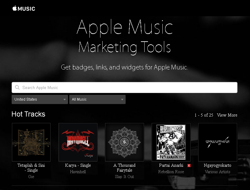 Marketing Tools untuk Apple Music - Netrilis
