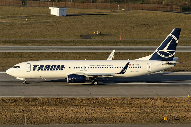 Boeing 737-800 of TAROM While Taxiing