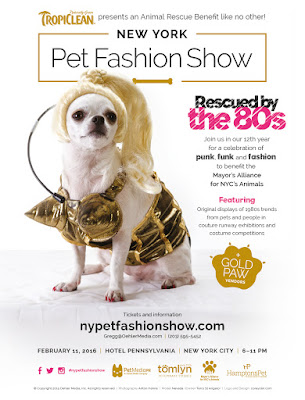NYC Pet Fashion Show 2016 poster