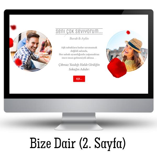 Sevgililere özel WEB Sitesi